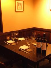 4名様用テーブル席。友達同士、ご家族、主婦会、接待にもご利用下さい。