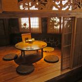 赤猿人気席。まさに隠れ家と言える個室席となっております。