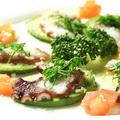 料理メニュー写真タコの刺身/タコの唐揚げ