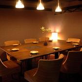 8名様~10名様までご利用いただける完全個室。接待や会社宴会、記念日など各種宴会におすすめです♪その他4名様~ご利用いただける完全個室のご用意もございます。
