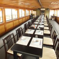テーブル椅子席~50名、座卓~54名