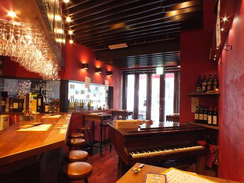 ミュージックチャージは0円!!恵比寿で楽しむピアノの生演奏♪厳選ワインも常時準備♪