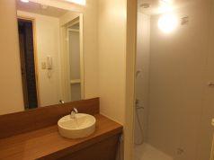 シャワールームは広くてキレイです