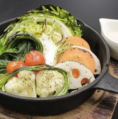 ピザ窯でアツアツ焼き野菜