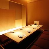 和をテイストを取り入れた寛ぎ感満載の個室空間をご用意致しております。気軽な飲み会や同期会、女性同士の集まりなど、様々なシーンでご利用頂けます。掘りごたつ席になっておりますので、ごゆっくりとお寛ぎいただけます。ぜひご利用くださいませ。