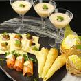 ひとつひとつ手作りお料理は見た目も鮮やかその日、厳選した旬の食材を使用。