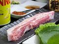 料理メニュー写真厚切りサムギョプサルセット