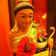 『タイに小旅行気分♪』南国リゾート風の店内に癒される