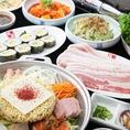 合コン・ご宴会・各種お集まりに♪いろいろ食べたい方に!人気の逸品韓国料理をご用意いたしました★サムギョプサルや冷麺、多人数で楽しめるホルモン鍋、おすすめのキムチ餃子や、トッポギ、チヂミなどの定番メニューなどなど!!大・大満足いただけること間違いなしです!是非ご来店ください♪
