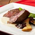 料理メニュー写真特選A5黒毛和牛リブロースのグリル 特製ジュのソース