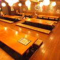 【お座敷席】2階のお座敷席は人数に応じて席を区切ることができます。
