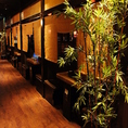 木のぬくもりが心地よい、半個室のお席。ご歓談、ご宴会、女子会、合コン、デートなどに最適です。(新宿・居酒屋)※画像は系列店です