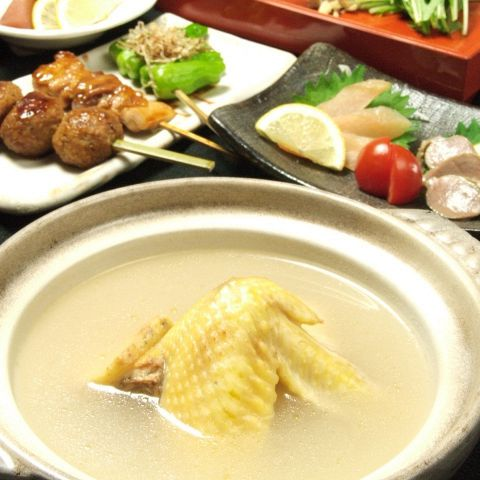 【120分飲み放題付】地鶏の水炊きコース5500円→4980円(月〜木なら150分)
