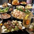 通常の飲み放題付きコースを3500円(税込)からご用意しております!国産もつを使用したもつ鍋や鹿児島産黒豚の餃子などこだわり食材をお得な価格でご堪能ください!