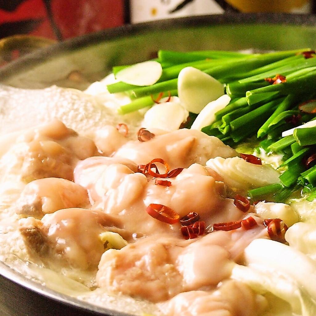 もつと塩が絶妙!ビールにもよく合う!鍋の最後はチャンポン麺を入れてコク旨のラーメン!