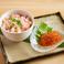 料理メニュー写真蟹のほぐしみといくらの丼ぶり