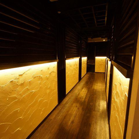 ●【 クラシカルモダン・~和~情緒 完全個室 】●:3~40名まで。大人の落ち着いたのテーブル・空間