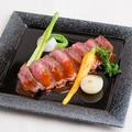 料理メニュー写真黒毛和牛ステーキと焼野菜