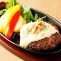 料理メニュー写真黒毛和牛の絶品ハンバーグ