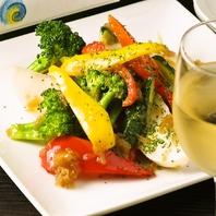 お通しにもこだわりあり★お野菜のペペロンチーノ♪