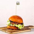 料理メニュー写真照り焼きチキンバーガー