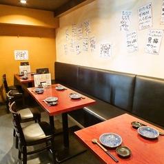 【テーブル席】少人数のお食事はもちろん、大人数でのご宴会などにもご利用頂ける、使い勝手のいいテーブル席!