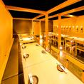 ◆最大40名様用個室テーブル席◆大人数のご宴会にも個室席をご用意致します。