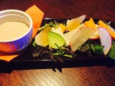 料理メニュー写真柴田郡村田町ボンディファーム鹿股さんの有機野菜を使ったバーニャカウダ