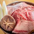 料理メニュー写真和牛をつかった牛すき鍋