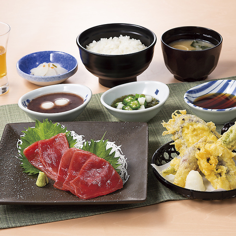 ≪期間限定≫本まぐろと旬野菜 鱧天ぷら御膳
