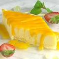 料理メニュー写真マンゴーチーズケーキ
