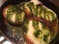 料理メニュー写真モッツアレラチーズのせ焼きトマト