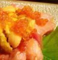 料理メニュー写真魚介の生ウニいくらのっけ盛り