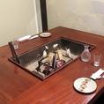アツアツの炉端焼きを楽しめるライブ感も味わえるお席を多数ご用意しております!焼いたものをお席へお持ちすることも可能ですのでお気軽にお申し付け下さい!