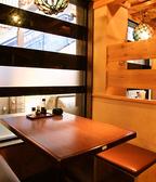 1F窓際のテーブル席ちょっと広めの2人用