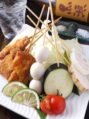 料理メニュー写真うずら卵/ささみ/豚バラ/豚チーズ