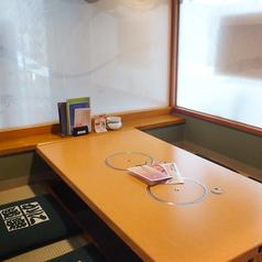 【上げ座敷】2~4名様までご利用可能です。 個室とは違い、広い空間のお席となっております。