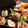 彩り松花堂弁当と特製水菓子
