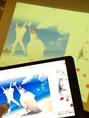 【結婚式2次会情報】スマホやタブレットの画面をそのまま高画質100inchプロジェクターに映し出せる★スライドショーや動画をスマホで作ってそのまま流せる!簡単にインパクト大な演出が可能!!