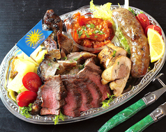 Meat dish platter  お肉の盛り合わせ