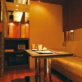 2名様カップル個室。全室ドア付き防音完全個室でご用意しています。