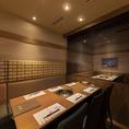 桜島のお部屋。人気のテーブルの個室です。早めのご予約がおすすめです。
