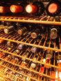 【本格ワインセラー】 お客様の広いご要望にお応えできるよう、価格帯も広く数十種類のワインを取り揃えております。ワインリスト未掲載のアイテムもございますのでお気軽にご相談下さい。