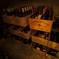【知識豊富なソムリエが厳選したワイン多数取り揃え】各地方の銘柄からとっておきの一杯をご用意!!イタリアのワインも含め全150種類。ナチュラルワインもご用意しています。