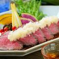 料理メニュー写真飛騨牛A5ランク ローストビーフ ヒマラヤの黒岩塩