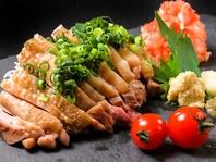 【店長のおすすめ】地鶏のたたき1000円