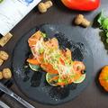 料理メニュー写真サーモンのカルパッチョ~トリュフ塩仕立て~
