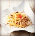 """料理メニュー写真フワフワパルメザンチーズの天使のカルボナーラ """"アンジェロ"""""""