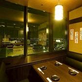 夜景がキレイ☆テーブル席タイプの個室です