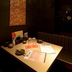 2名~3名様でご利用可能なテーブル個室。デートにおすすめです。